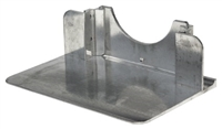 "Recessed Aluminum Nose Without Cutouts 14"" x 7.5"""