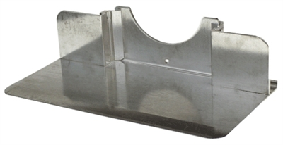 "Recessed Aluminum Nose Without Cutouts 18"" x 7.5"""