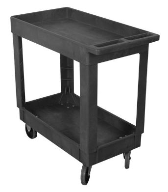 Plastic Service Cart 16X30 2 Shelf